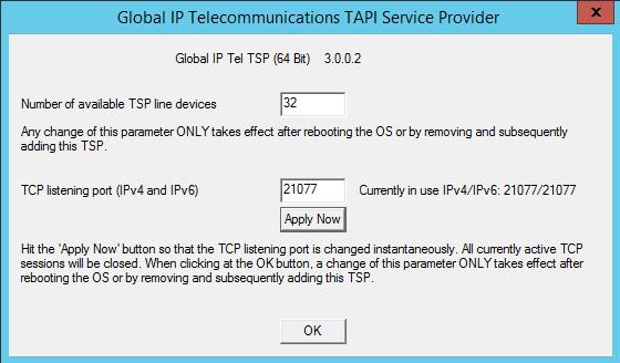 TAPI-Server - aggiunge driver sul server
